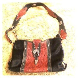 American West Leather & Rawhide Handbag
